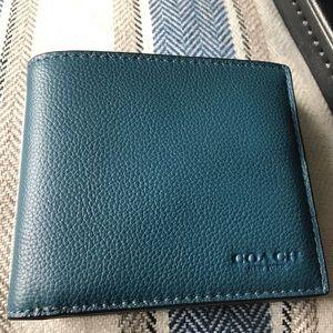 Men's coach wallet (blue) BNWT